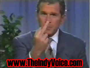 George Bush Tells America To Fuck Off!
